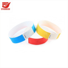 Pulseras desechables de papel DuPont promocionales de diferentes colores disponibles