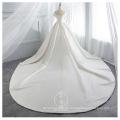 One shoulder wedding dress pengpeng Princess slim  simple tailed Satin Wedding Dress
