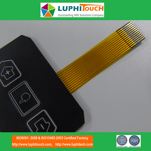 LGF Uniform Backlighting Technology Tactile Membrane Switch