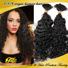 New Arrival,100% Human Hair Bulk,Curly 20inch Cheap Remy Hair Bulk