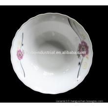 Custom printed flower ceramic cereal bowl