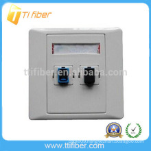 Two Port Duplex SC Fiber Optic Faceplate/ Wall Plate