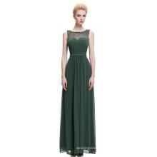 Starzz Sleeveless Chiffon Long Dark Green Formal Bridesmaid Dress ST000064-4