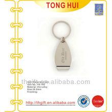 Kundenspezifischer gravierter Logo-Flaschenöffner schlüsselanhänger Metall
