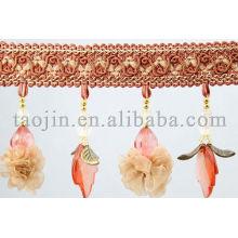Beau Parasol décoratif en perles bordées