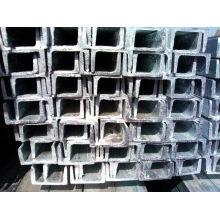 Barre à canaux en acier galvanisé chaud