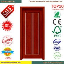 Best Price Simple Design PVC Wooden Door