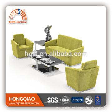 Sofá moderno del foshan del sofá de la tela del fram del acero inoxidable S-31