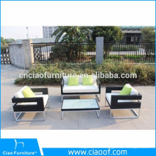 Aluminum Material Rattan Wicker Sofa Set Outdoor Furniture