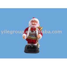 """9""""Colors belly santa/santa claus toys/9""""santa rotate belly"""