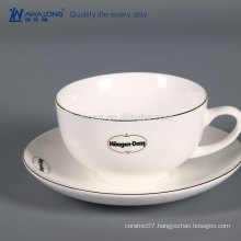 Reusable Coffee Cup With Lid, Espresso Bone China Coffee Cup And Saucer