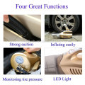 120W Portable 4800Pa Suction Car Vacuum Cleaner 12V 4 IN 1 High-Power Wet & Dry Dual-use Super Suction Dust Inflatable Pump