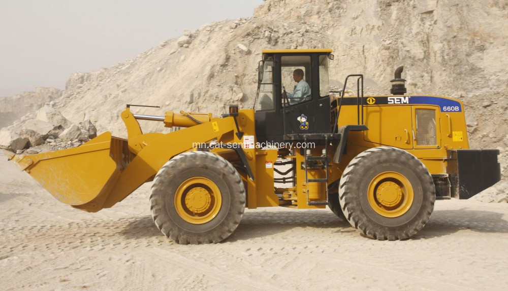 Best Selling SEM660B Wheel Loader In Algeria