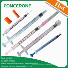 Seringue médicale jetable 1cc pour l'injection