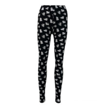 Casual Fashion Printing Tight Trousers Women Yoga Stacked Chinos Pants Bottom