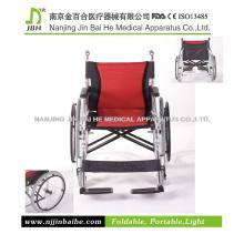 2015 Cadeira de rodas manual mais leve dobrável