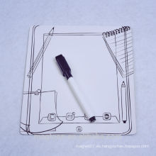 Los niños de encargo usan el diseño de la pantalla del teléfono tablero de escritura del imán del refrigerador del papel con la pluma de