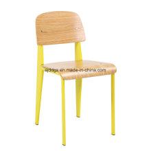 Silla del ocio de hierro taburete silla de madera