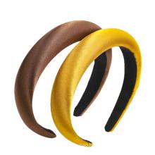 Bandeau cheveux tali rambut Simple Hair Bundle Solid Color Silk Fabric Sponge Hairband Headband for Women Girl Fashion Hair Accessori Wholesale