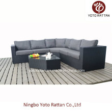 Black Rattan Sofa Set for Outdoor (1303)
