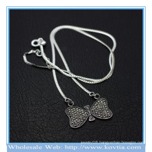 Wholesale newest 925 silver sweet bowknot chains pendant necklace 850068