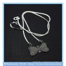 Оптовые новые 925 серебряные сладкие цепи bowknot кулон ожерелье 850068