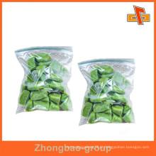 Materiais de embalagem selagem de vácuo de grau alimentar zip lock saco de plástico para açúcar, embalagens de alimentos secos
