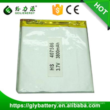 407586 rechargeable li polymer battery pack li polymer battery 3.7v 3800mah