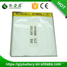 407586 rechargeable li polymer battery pack li polymer battery 3.7v 3800mah