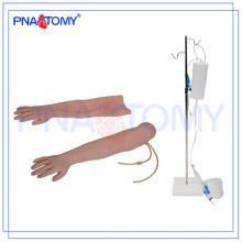 Práctica de enfermería PNT-TA003 usada Brazo de entrenamiento IV multifuncional