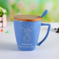 Funny Novelty Ceramic Mug with Spoon