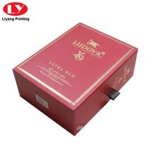 Caixas de presente vermelhas do cartão pequeno feito sob encomenda da gaveta