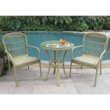 Conjunto jardim de cadeira do Rattan ao ar livre de vime mobiliário