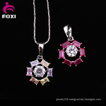 Colorful Cheap White Gold Plated Gemstone Pendant