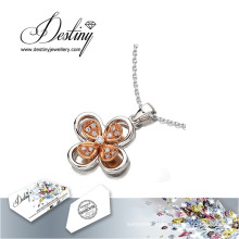 Destiny Jewellery Crystal From Swarovski Necklace Clovers Pendant