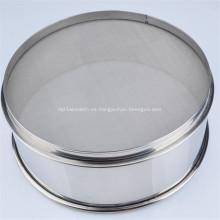 Tamiz de malla de filtro de acero inoxidable Tamiz de prueba de jardín