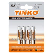 1, 5V tamanho aaa R03P bateria de zinco-carbono com baixo preço e boa qualidade