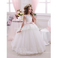 Light green color party and wedding wear western dress lovely laced decoration new model girl dress