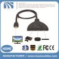 3 puertos de cerdo Tail HDMI 1080p Switch Splitter Switcher HUB Box Cable para TV HDTV DVD PS3 Xbox 360 Caja de cable