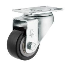 Roulette de roue en polyuréthane à usage moyen (noir) (surface plate) (G2204)