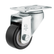 Medium Duty Polyurethane Wheel Caster (Black) (Flat Surface) (G2204)