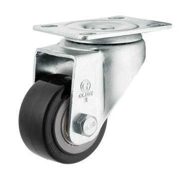 Medium Duty Polyurethane Wheel Caster (Black) (Flat Surface) (G2204)