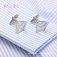VAGULA Fashion Rhodium Smooth Arched Camisa Puños
