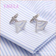 VAGULA Fashion Rhodium Plated Smooth Arched Shirt Cuffs