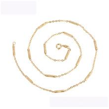 45136 neueste design xuping mode halskette Umwelt kupfer 18k gold farbe einfache halskette