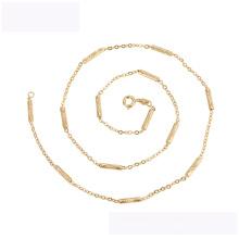 45136 последние дизайн ожерелье моды xuping окружающей среды медь 18K золотой цвет простое ожерелье
