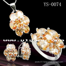 Handmade Fashion Colour Zircon Jewelry Set (YS-0074)