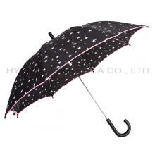 Cute Star Printed Auto Open Kids Umbrella