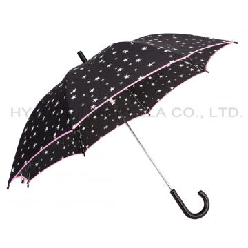 Cute Star Printed Auto Open Kids Umbrella
