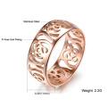 Belle Hollow Out camélia Bague 18K Or Rose plaqué femmes anneau Fashion bijoux titane gros doigt métallique anneau bande